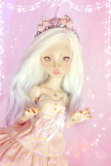 ☆ Pastel Kitty ☆ (Shimiro Doll Photography) Tags: bjd doll dollphotography bjdphotography portrait nikon balljointeddoll custombjd toy pullip dolls toys cute kawaii yosd pastelgirl pastelfashion pastel lillycat cerisedolls toyphotography chibbilana cerisedollslana lillycatchibbilana