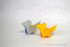 こぎつね / Fox cub (Gen Hagiwara) Tags: origami paperfolding art papercraft animal fox genhagiwara 折り紙 アート ペーパークラフト 萩原元