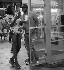 Capturing the Right Moment (Stephanie Cassiday-Krueger) Tags: streetphotography usstreet street streetphotographers monochrome timessquare nyc