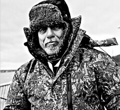 Paul, the Angler (ronramstew) Tags: paul angler liverpool river mersey bw portrait blackandwhite