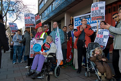 HOFFMAN_NHS_MARCH_070303_008 (hoffman) Tags: activism activist affliction banner british britishisles campaign campaigner campaigning child children crowd daylight demo demonstrate demonstrater demonstrating demonstration demonstrator disability disabled disablement disorder ec eec england english eu europe europeanunion female governmentservices greatbritain group handicap handicapped health horizontal lady march marching midwives nhs nurses outdoors people placard protest protesting street uk unitedkingdom walking wheelchair woman workers young youth