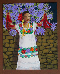 Mexican Dancer (M.P.N.texan) Tags: art woman dancer native costume mexico mexican acrylic acrylics paint painting handpainted original mpn