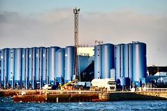 Pocra Quay - Aberdeen Harbour Scotland (DanoAberdeen) Tags: northsea riverdee water seaport aberdeen berth supplyships aritime brine blue bunkers pocraquay danoaberdeen candid amateur scotland harbour aberdeenharbour fittie footdee seport psv uk gb abz abdn