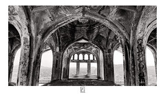 Inside Darbar Hall (krishartsphotography) Tags: krishnansrinivasan krishnan srinivasan krish arts photography monochrome fineart fine art darbar hall plasterofparis arch arches window scribbles texture ancient architecture gingee queen fort affinity photo silver efx pro dxo tamilnadu india