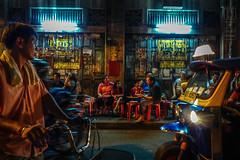 Sidewalk Restaurant Chinatown Bangkok (shapeshift) Tags: asia bangkok bicycles chinatown city davidpham davidphamsf evening food fz200 night panasonic people photodocumentary photojournalism shapeshift shops southeastasia street streetphotography streetscene thailand travel tuktuk urban vendors yaowarat happyplanet asiafavorites