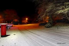 Glen Road Snow1 (g crawford) Tags: glenroad westkilbride ayrshire northayrshire crawford snow weather red dark night white ice winter snowfall postbox pillarbox hdr