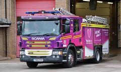 YN66 MVK (Ben - NorthEast Photographer) Tags: humberside fire rescue service hfrs scania p280 appliance pump pumping engine bransholme station community heynhs nhs national health organ donor wrapped yn66 mvk yn66mvk