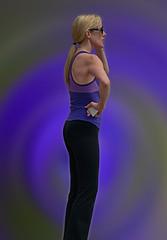 Purple Haze (Scott 97006) Tags: woman female lady blonde pretty cute thinking indecisive pondering