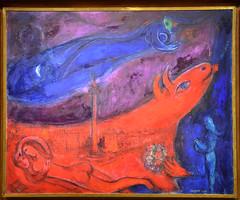 La Bastille, 1953 (RarOiseau) Tags: peinture art chagall rouge aixenprovence paca musée bouchesdurhône exposition