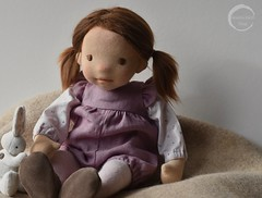 """ELLIE 13.5"""" Natural Fibre Baby Art Doll by Waldorfdollshop (Waldorfdollshop) Tags: waldorfdoll waldorfinspired naturaldoll naturalfibreartdoll ooak babydoll babyartdoll babywaldorfdoll alpaca artdoll collectable collectors sculpted"""