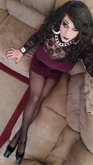 Purple & Lace (therealdavinawayne74) Tags: boi boytogirl blackpantyhose blacktights crossdressing crossdresser crossdress crossdressed dragqueen dragmakeup feminized femme heels highheels hosiery minidress m2f maletofemale makeup nylons nylon pumps pantyhose stilettoheels tgirl transvestite tights tranny