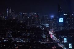 Urban night (bdrc) Tags: sony sonyalpha sonyimages sonyuniverse asdgraphy malaysiaphotographer mirrorless fullframe a7iii a7m3 pj city urban landscape scenery cityscape buildings structure night lights traffic tele zoom minolta 75300mm f4556 street
