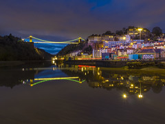 A Picture is Wirth a Thousand Words (Wizard CG) Tags: long exposure landscape epl7 england architecture ed bristol ngc world trekker micro four thirds 43 m43 olympus mzuiko digital tourist attraction outdoor bridge clifton suspension longexposure sunset skyline river water nd filter sky boat building tree dusk grass