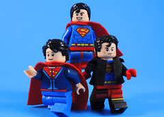 Super Fam (-Metarix-) Tags: lego super hero minifig dc comics comic superman superboy jon kent clark connor kal el kon house clone custom universe rebirth