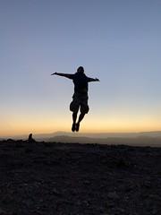 Sunset, the Coyote Stone (Piedra del Coyote), the Valley of the Moon (Valle de la Luna), San Pedro de Atacama, the Atacama Desert, Chile. (ER's Eyes) Tags: miradordekari piedradelcoyote valledelaluna valedalua thevalleyofthemoon highlands altiplano altiplanoschilenos tierrasaltaschilenas chileanhighlands volcano vulcão montanha mountain neve snow chile sanpedrodeatacama spa desertodoatacama atacama atacamadesert desiertodeatacama desert deserto desierto nortrek nortrekatacama emmanuel argentiniantravelguide tour passeio sharedtour passeiocompartilhado hostalsumajjallpa albergue hostal sernatur southamerica americadosul nature natureza landscape paisagem unesco northofchile theandes cordilheiradosandes salardeatacama emmanuelourfineargentiniantravelguide comunidadatacameñadesolor cordilleradesal saltmountainrange thelosflamencosnationalreserve formaçõesrochosas rockformations lunarsurface dunas dunes thevalleyofmars valedemarte sunset poente weed pot pisco piscosour high sun sol jump pule