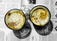 Time for a pause (Onlyshilpi) Tags: coffee newspaper canon cups hotbeverage drink
