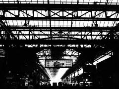 Marylebone Station (cycle.nut66) Tags: marylebone station skylight roof arch trains people transport travel contrast grainyfilmartfilter olympus epl1 evolt micro four thirds mzuiko