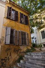 old house in Plaka, Athens (Nikos_Theologou) Tags: house old plaka athens greece arc building architecture window stairs tree