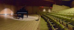 Center Stage (MPnormaleye) Tags: mim utata seats wideangle theatre instruments steinway piano musical panorama