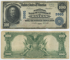 United States $100.00 (one hundred dollars) national currency (SMU Libraries Digital Collections) Tags: texas money national us united states currency paper banks notes note banknote banknotes chartered bank banking dallas dallascounty