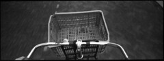 New Old Basket Crate (selyfriday) Tags: selyfriday wwwnassiocomempty nassiocom film 35mm analogue panorama minoltarivapanorama minolta riva caffenol de ltastd 25˙c 9minutes picoprint 200iso picoprint200 cheap expired old zaandam nederland neth erlands dutch holland zaans zaanstad bike ride crate clunker handlebars
