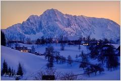 Bosruch am Abend (Karl Glinsner) Tags: landschaft landscape österreich austria oberösterreich upperaustria outdoors berge mountains schnee abend evening abenddämmerung dusk phyrn oberweng bosruck