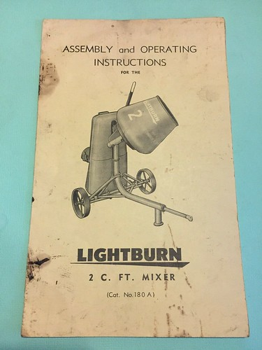 Vintage Lightburn Cement Mixer