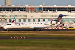 D-ACNB Lufthansa Regional (CityLine) Bombardier CRJ-900 (buchroeder.paul) Tags: eddl dus dusseldorf international airport germany europe ground dusk dacnb lufthansa regional cityline bombardier crj900