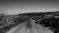 West Burren, Co Clare - Ireland (Gullivers adventures) Tags: ireland clare west wildatlanticway coast love hb travels adventure blacknwhite rocks landscape road sky midday happiness