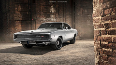 silver 1968 Dodge Charger R/T - Shot 3 (Dejan Marinkovic Photography) Tags: 1968 dodge charger mopar muscle car american silver strobist automotive
