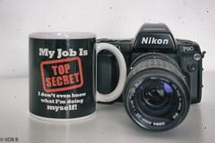 TOP SECRET (björnvandenbulcke) Tags: koffiemok tekst nikoncamera schaduw