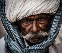 Strength (F Image Gallery) Tags: india fabiolavelasquez turban moustache strength eyes man head shoulders gear portrait portraitphotography streetphotography streetartphotography
