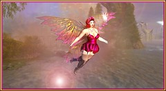 Never stop dreaming (Kara Blossom) Tags: curvy ebody genus femme woman fairy fée lapin bunny angel fairytale pink boots cuissaredes nylon bas nails choker necklace flowers fleurs wings ailes star rainbow sparkle sparkles landscape paysage lac lake baguette wand magic panties dress courte robe brouillard fog magie head mesh bento jarretières event curves curvesevent galleria