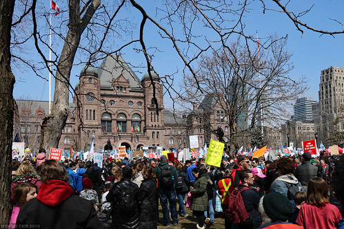 Tens of thousands protest against Doug Ford