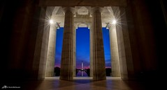 Lincoln's View (Matt Straite Photography) Tags: washington dc lincoln memorial capitol color sky sunrise