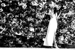 Blooming tree (Franck gallery) Tags: paris femme woman long dress high heels talons hauts jeune youg blackwhite noirblanc romantique romantic charme charm glamour pose posing blooming en fleur people personnes gens d90
