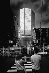 S0028005A Urban space (soyokazeojisan) Tags: japan osaka city street light people bw blackandwhite monochrome digital fujifilm xq2 2019