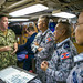 Leaders discuss daily operations during a submarine tour in support of Guardian Sea 2019