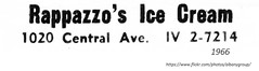 1966 Rappazzo's  1020  Central ave. (albany group archive) Tags: 1960s old albany ny vintage photos picture photo photograph history historic historical