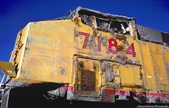UNDER WARRANTY (jamesbelmont) Tags: unionpacific soldiersummit ge ac4400cw riogrande utah train railroad railway locomotive wreck rollover scofield pleasantvalleysubdivision