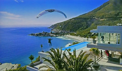 SARDINIA - Bath in the pool (Jacques Rollet (very little available)) Tags: pool piscine parapente paragliding sea mer rivage maison house shore coast beach plage côte sardinia