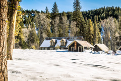 Golden Age Mine_2 (JGemplerPhotography) Tags: building mountain snow tree cabin woods forest