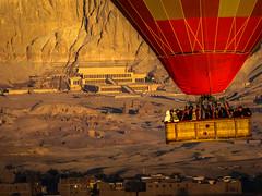Carton of Humans to Go (keith_shuley) Tags: hatshepsutmortuarytemple balloon hotairballoon dawn valleyofthequeens luxor egypt