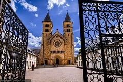 Echternach - St. Willibrord Basilica and Abbey (Robert GLOD (Bob)) Tags: basilica echternach lu architecture building chapel church construction door europe gate luxembourg mission shrine