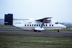 G-OGIL Short 330 Gill Air CVT 05-03-91 (cvtperson) Tags: gogil short 330 gill air coventry airport cvt egbe