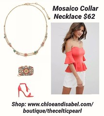 Today's Featured Item: Mosaico Collar Necklace $62 Shop: https://www.chloeandisabel.com/boutique/thecelticpearl/products/N694MBG/mosaico-collar-neck  Enchant an audience with a burst of color + tropical vibes! The pastel palette of Portugal is infused wit (thecelticpearl) Tags: love trending new swarovski denim spring2k19 shop trend crystal buy lifetime guarantee turquoise chloeandisabel pavé gold mint daily feature white trendy coral whiteopal lavender trends shopping jewelry product crystals boutique lisbon accessories peach clear thecelticpearl inspired spring mosaico resin semiprecious blue ootd candi swarovskicrystal opal online style fashion