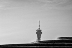 Beyond (karmajigme) Tags: tower toureiffel tour eiffeltower paris sky monument noiretblanc monochrome blackandwhite france travel bw nikon