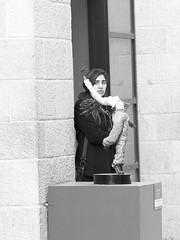 Woman as Background (zeevveez) Tags: זאבברקן zeevveez zeevbarkan canon bw sculpture exhibition art woman background