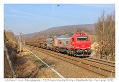 Euro 4045 VFLI - Champagney (CC72080) Tags: euro4000 vfli ligne4 champagney locomotive nacco train zug güterzug marchandise wagon