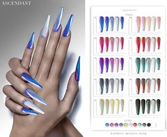 ACCESS | March 12th (Kah Melody | ASCENDANT) Tags: ascendant nails bento maitreya slink belleza access artnails glass shattered polish